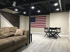 Home Gym Ideas Basement Low Ceiling 29 Ideas homecoming dresses/ prom Basement Ceiling Insulation, Unfinished Basement Ceiling, Basement Ceiling Options, Open Basement, Ceiling Ideas, Basement Ideas, Ceiling Lighting, Basement Ceilings, Ceiling Design
