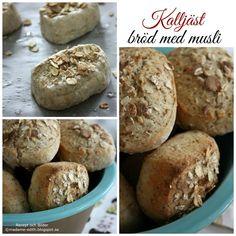 Kalljäst bröd med musli Fika, Nutella, Hamburger, Bacon, Bread, Apple, Breakfast, Muffins, Lasagna
