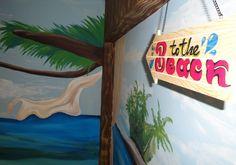 Beach wall art + Handmade signboard Τοιχογραφίες δωματίων www.wallinart.gr