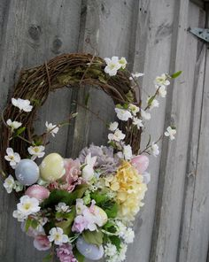 Beautiful Easter wreath and into Spring.
