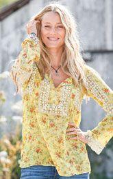 cottage garden blouse