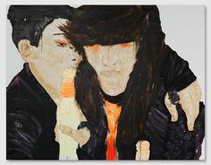 Rauha Mäkilä, Ladyhawke (With Brown Hair) Finland, It Works, Contemporary Art, Artist, Brown Hair, Inspiration, Paintings, Wall, Chestnut Hair