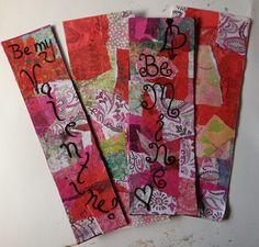 Easy Valentine Gift for Teachers: Decoupage Valentine Bookmarks