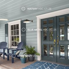 Behr 2019 paint trends are here! If you love blue like I do, then these colors and ideas on how to incoorporate them into your home are just for you. Exterior Color Schemes, Exterior Paint Colors For House, Paint Colors For Home, Exterior Design, Exterior Paint Color Combinations, Exterior Shutter Colors, Stucco House Colors, Cottage Exterior Colors, Gray Exterior