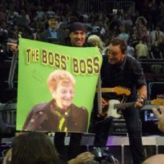 The Boss's BOSS. Newark 5/2/2012.  Thanks to a friend who took these pics.....BEST SIGN EVER!