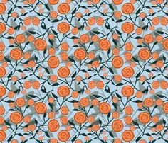 AbstractRose_Orange Tones fabric by madex on Spoonflower - custom fabric