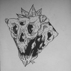 Triangle Skull. Dark Artwork, Triangle, Horror, Skull, Ink, Tattoos, Illustration, Tatuajes, Illustrations