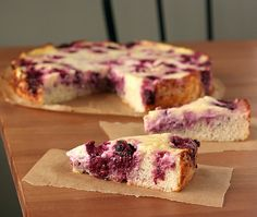Blackberry Kuchen - delightfully tangy sweetness and unexpected creaminess.