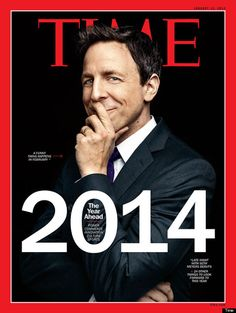 seth meyers on the first cover of Time magazine for 2014!