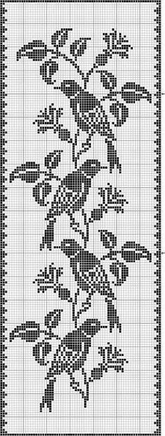 filet crochet birds Best Picture For Crochet Pattern stitches unique For Your Taste You are looking for something, and it is going to tell you. Cross Stitch Bird, Cross Stitch Charts, Cross Stitch Designs, Cross Stitching, Cross Stitch Embroidery, Cross Stitch Patterns, Crochet Birds, Crochet Cross, Thread Crochet