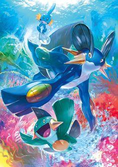Pokemon   Mudkip, Marshtomp & Swampert - Deep In The Blue