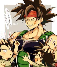 DBZ Bardock, Raditz and Goku
