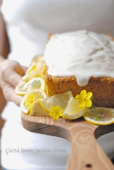 gluten-free glazed lemon zucchini bread