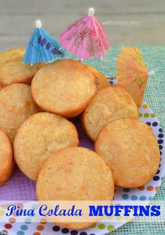 Start your day by adding these Pina Colada Muffins to your brunch or pop 1 or 2 into your lunch box - also great as a light dessert