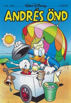 GCD :: Cover :: Andrés Önd #26/2000 Price Page, Walt Disney, Comics, History, Beach, Cover, Historia, The Beach