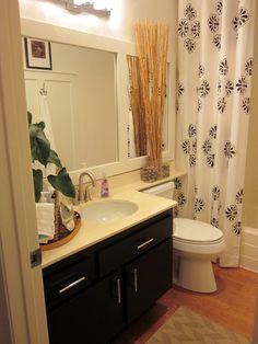 70′s Bath Gets Budget Redo - love the panelling idea!