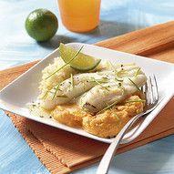 Scholfilet met limoen Everyday Food, Camembert Cheese, Risotto, Potato Salad, Mango, Low Carb, Potatoes, Fish, Chicken