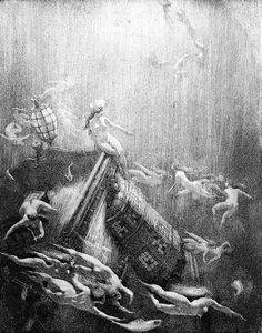 """""""Galleon's End"""" by Norman Lindsay"""
