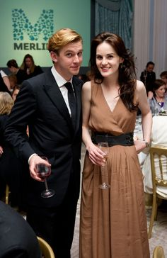 downton abbey cast | cast downton abbey3>> Dan Stevens as Matthew Crawley and Michelle Dockery as Lady Mary Crawley