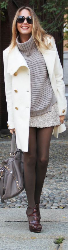 Love the coat and heels.  Women's Fashion | BuyerSelect.com