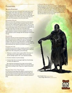 Dungeons And Dragons Classes, Dungeons And Dragons Homebrew, Good Knight, Dnd Classes, Just Magic, Dnd 5e Homebrew, Dragon Age 2, The Adventure Zone, Dnd Monsters