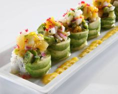 rice paper rolled sushi