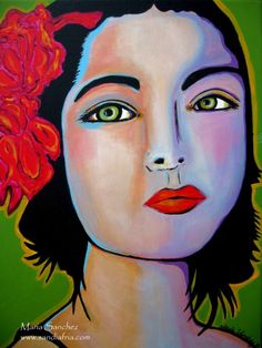 Rosa original painting by sandiafria on Etsy