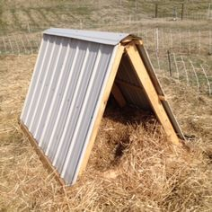 A pig shelter for pastured hogs. Photo taken at Broad River Pastures.