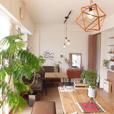 aya_ko0124さんの、My Desk,観葉植物,植物,手作り,unico,コーヒーテーブル,新婚,マンションインテリア,2人暮らし,nico…