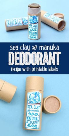 Manuka Oil Deodorant Recipe with Detoxifying Sea Clay for natural summer skin care. A clean beauty recipe for a healthy lifestyle without baking soda that's aluminum free. This manuka oil deodorant recipe is a natural deodorant for sensitive skin. Made manuka essential oil as well as detoxifying, mineral rich sea clay, this natural manuka oil deodorant recipe fights body odor without synthetic or toxic ingredients and offers a fresh, uni-sex scent perfect for summer. Diy Deodorant, Baking Soda Deodorant, Deodorant Recipes, Natural Deodorant, Manuka Essential Oil, Essential Oil Deodorant, Manuka Oil, Natural Essential Oils, Homemade Beauty