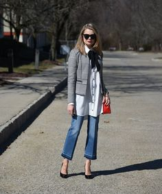 Cropped Flare Jeans  Outfit | March 4, 2016 | By Marina Summers