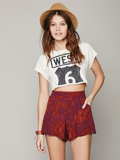 Womens Sahara Printed Short from Free People on Catalog Spree