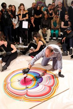 Holton Rower live art preformance presented by Dior // DIOR BEAUTY Celebrates 50 Years of Dior Vernis with Artist Holton Rower