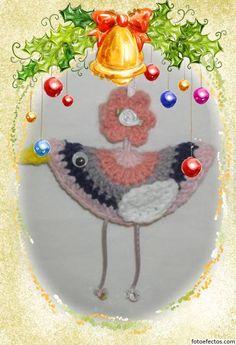""""""" Mossita Bella Crochet y Tejido """": Birdie Decoration, Pajaritos a Crochet, Reto Amistoso # 35"""