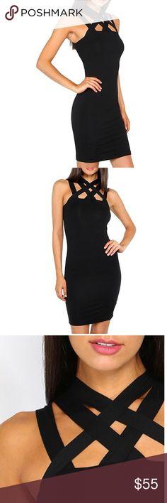 🆕 Super Hot Black Strappy Cocktail Dress Brand new. Dresses