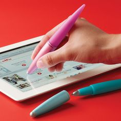 You'll be jazzed about our all-in-one Jazz Touchpen™ & Stylus that lets you take notes, draw and play on both touch-screens and paper.