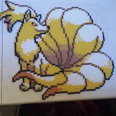 Ninetails Pokemon perler beads  by oatongsong
