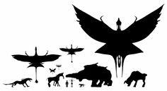 Scale of all Avatar creatures compared to a human Fantasy Creatures, Mythical Creatures, Avatar Animals, Avatar Fan Art, Avatar Movie, Monster Art, Fauna, Creature Design, Pandora Jewelry