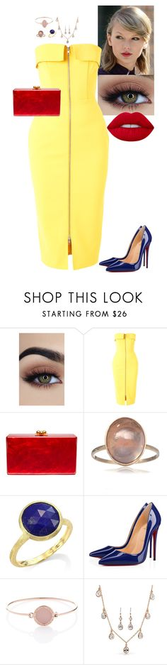 """""""Snow White"""" by stinze on Polyvore featuring Alex Perry, Edie Parker, Marco Bicego, Christian Louboutin, Michael Kors, Bling Jewelry and Lime Crime"""