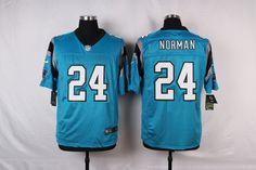 Men's Nike Carolina Panthers #24 Josh Norman Blue Elite Jersey