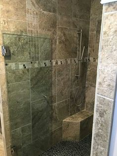 Frameless Shower Britt And Tilson Glass Asheville, NC | Burns Dream Home |  Pinterest | Frameless Shower And Shower Makeover