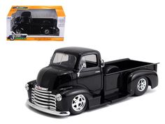 1952 Chevrolet COE Pickup Truck with Chrome Wheels 1:24 Diecast Model by Jada