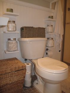Small bathroom storage- a must!