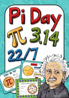 Pi Day Google Slides™ Digital Activity; March 14th is Pi Day. Students can learn about the history of pi and how to solve the circumference and area of a circle. This 30 page activity includes Google Slides™ activity is great for 4th, 5th, and 6th grades. Just click on the link I've provided and you'll be prompted to make a copy to save in your Google Drive. Answers are also provided. I've also provided a biography brochure template for students to complete about Albert Einstein.