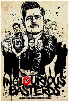 Inglourious Basterds directed by Quentin Tarantino, starring Brad Pitt, Christoph Waltz, Michael Fassbender & Diane Kruger Quentin Tarantino, Tarantino Films, Inglourious Basterds, Great Films, Good Movies, Brad Pitt, Love Movie, I Movie, Fantasy Anime