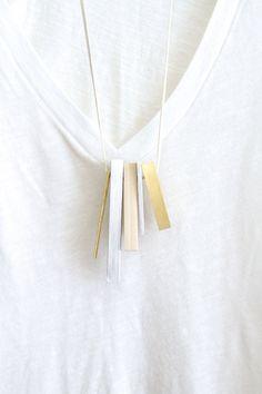 Statement Necklace Contemporary Jewelry от naturametallum на Etsy