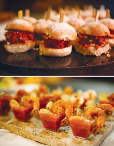 Not sure what's in these, but using the tiny slider buns for bruschetta would be so much less messy than open-faced