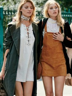 Free People All Laced Up Shift Dress at Free People Clothing Boutique