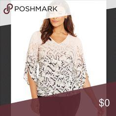 COMING SOON Calvin Klein Plus Size Angel Sleeve Snakeskin Print Top , Size 2X Calvin Klein Tops Tunics
