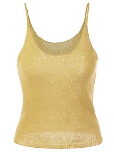 Openwork Knit Tank Top, GINGER, ONE SIZE in Tank Top   DressLily.com